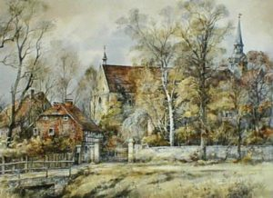 »Riddagshausen - Kleiderseller Weg«  Kunstreproduktion limitiert und signiert  Günther Kaphammel 40 × 30 cm  Blattpreis, 45,00 €
