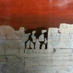 Rose Richter-Armgart Öl auf Holz 40 x 40 cm