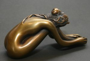 "Bruno Bruni - ""Undine""  Bronze  Höhe ca. 8 cm"