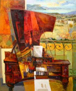 """""""Piano""""  Öl auf Leinwand,  100 x 120 cm"""