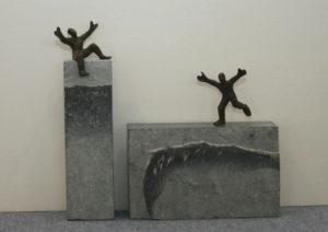 """Francis Mean  Steinfiguren  """"genieße das Leben""""  Höhe 20 cm"""