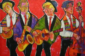 """""""Jazzband""""  Öl auf Leinwand,  110 x 80 cm"""
