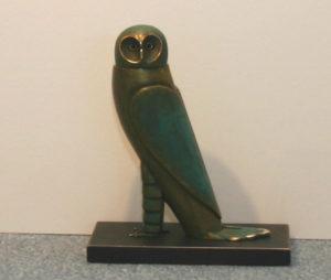 "Paul Wunderlich  ""Eule""  Bronze, ca 15 cm"