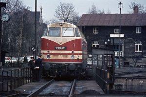 Lok der DDR Reichsbahn, Betriebswerk Helmstedt, 1969