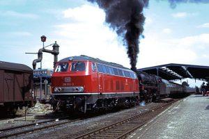 Diesellok Probefahrt, Husum 1970