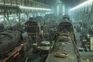 Dampflok Ausbesserungswerk BS, 1970